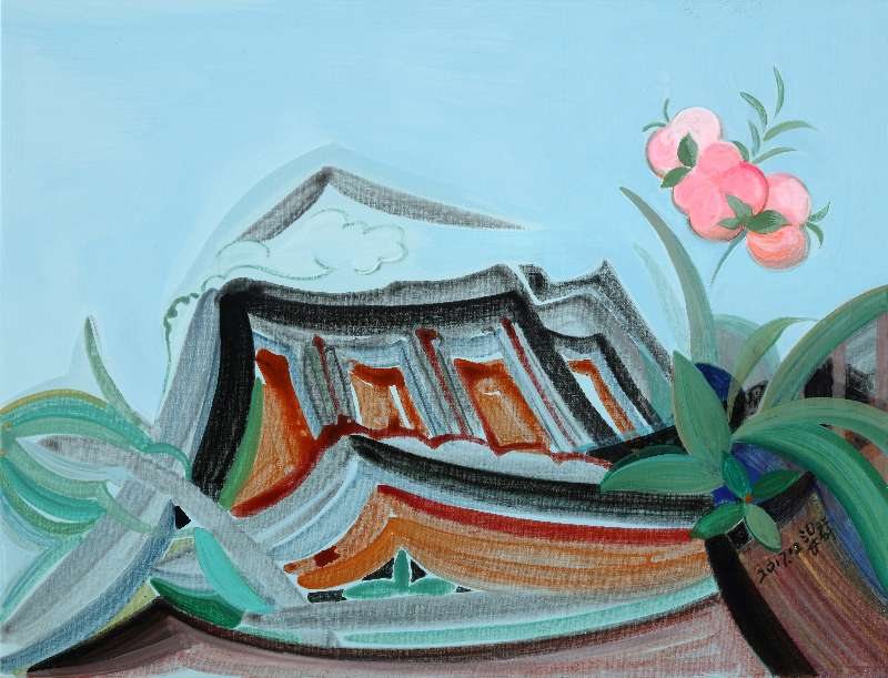Liang Quan, Spring Flower series-4, Oil on Canvas, 30x40,2017.JPG