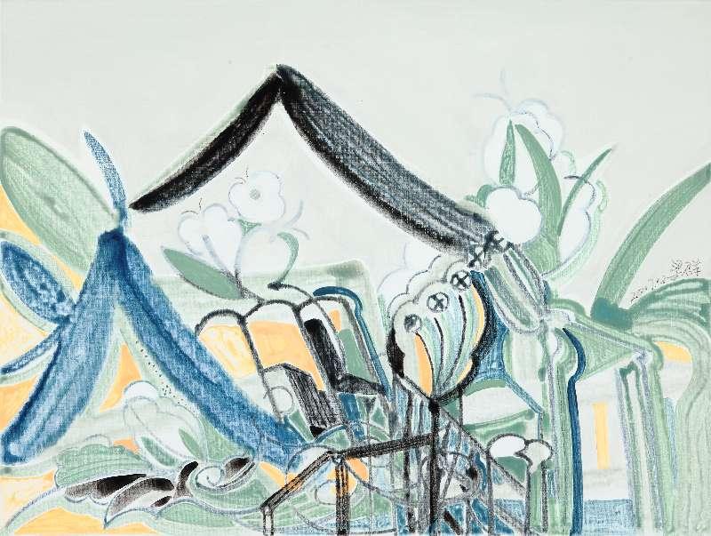 Liang Quan, Spring Flower series-5, Oil on Canvas, 30x40,2017.JPG