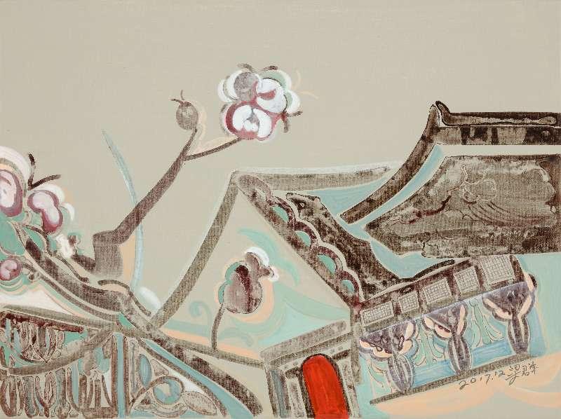 Liang Quan, Spring Flower series-6, Oil on Canvas, 30x40,2017.JPG