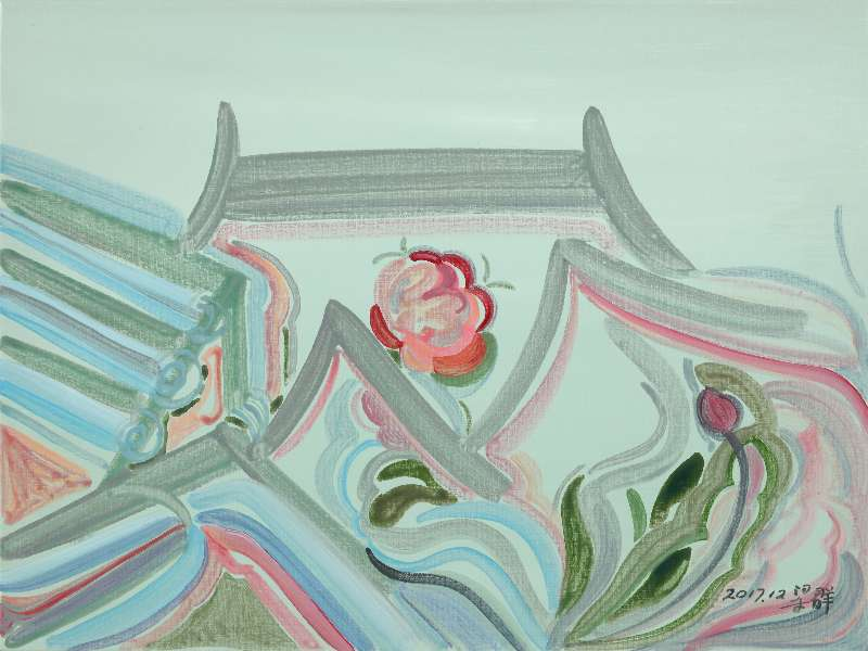 Liang Quan, Spring Flower series-7, Oil on Canvas, 30x40,2017.JPG