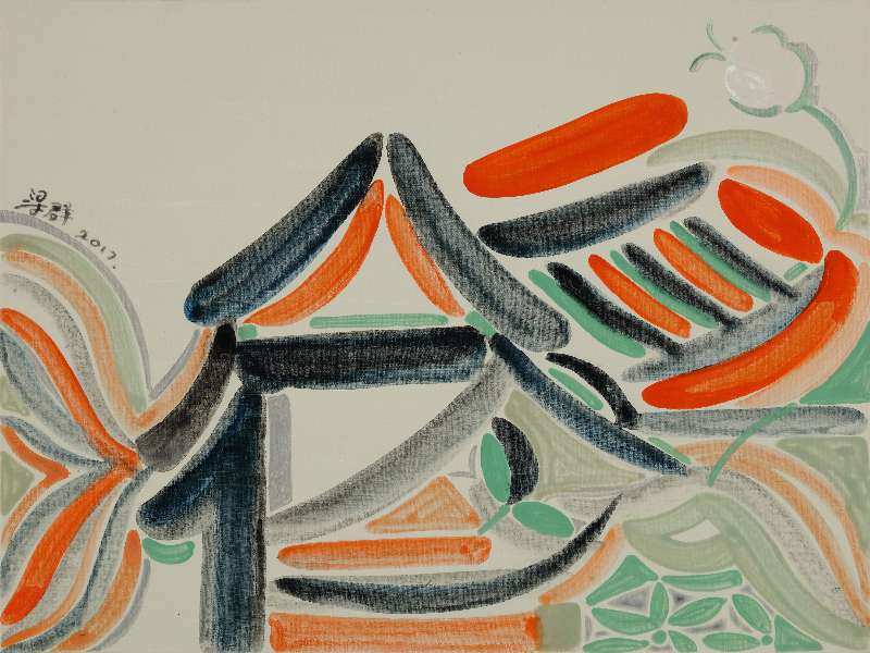 Liang Quan, Spring Flower series-9, Oil on Canvas, 30x40,2017.JPG