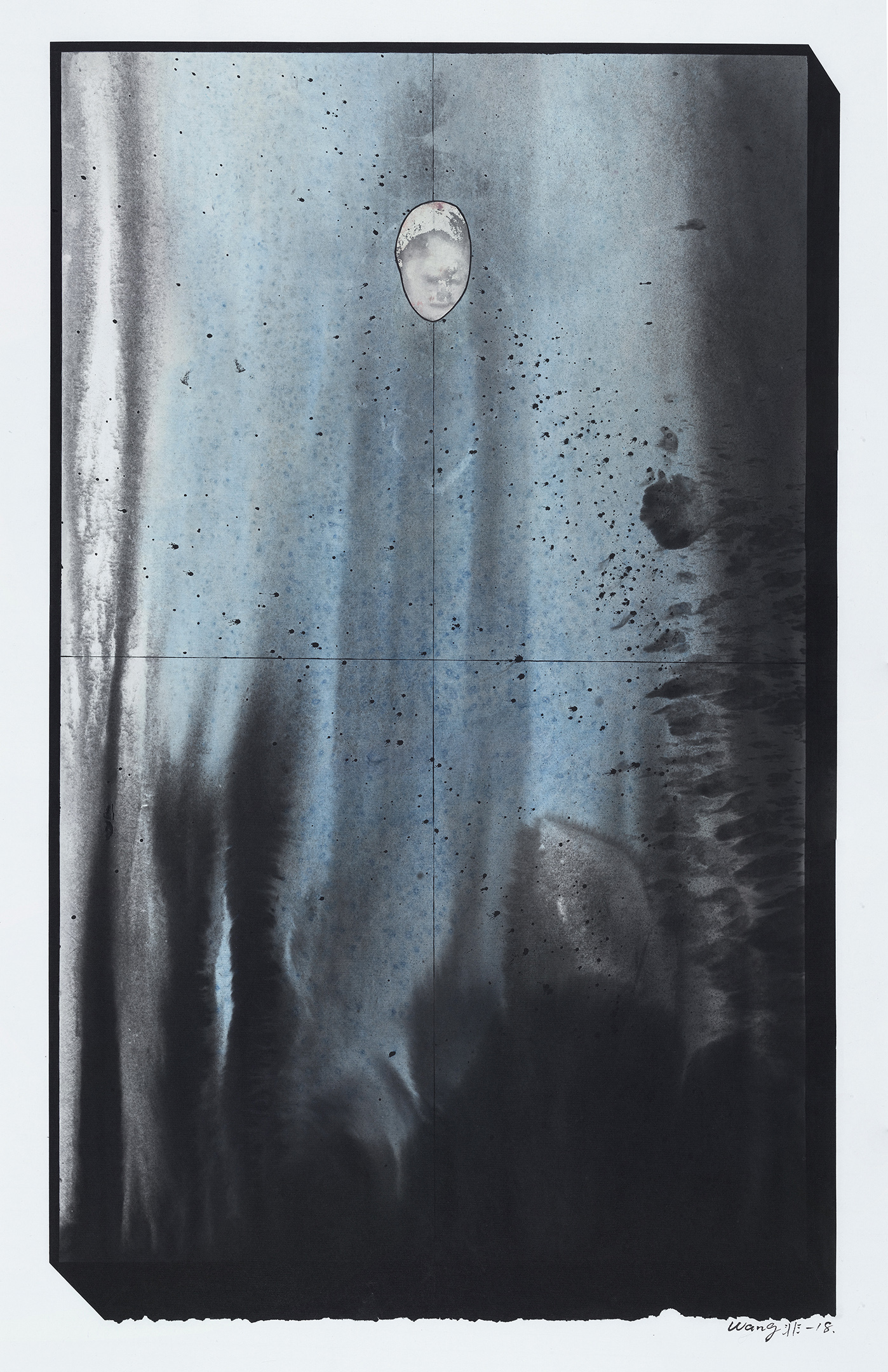 Wang Fei, Exotic-1, 2018, Ink on rice paper, 32x20in.JPG