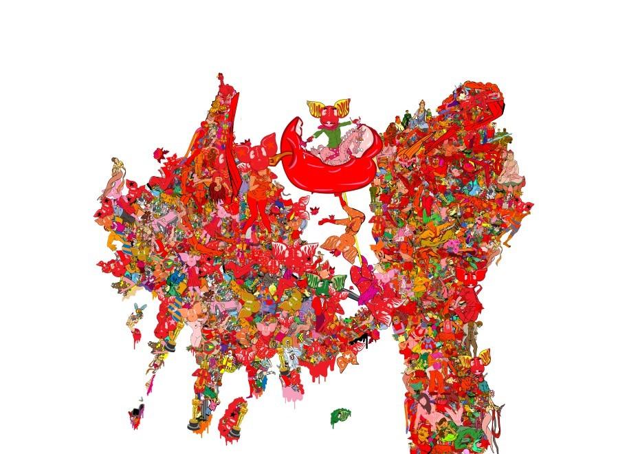 red frenzy- Li shigong solo - Feb. 11-Apr. 16, 2017