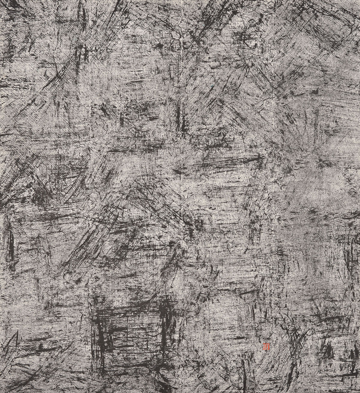 Bian Hong, New Calligraphy Series,2005, Dry Ink on rice paper, 45_x50_.jpg