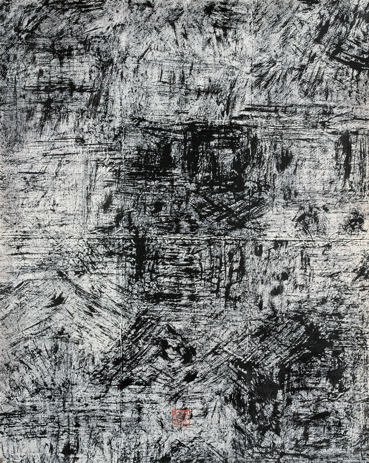 Bian-Hong,-New-Abstract-Calligraphy-Series-3,-35'x38'cm,-2005.jpg