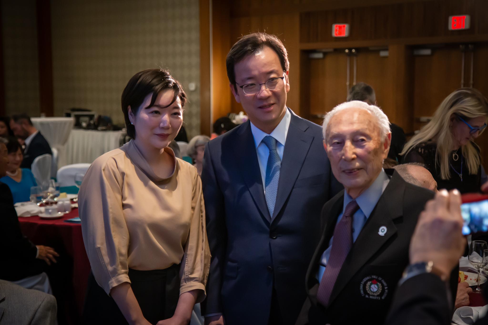 Consul General Takashi Hatori with Kaye Kaminishi