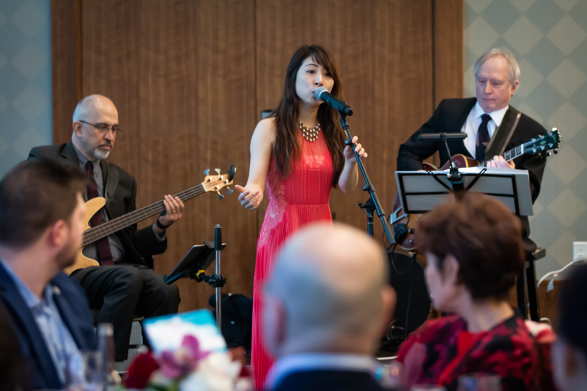 Japanese singer Chinami Kaminishi sings with Slinki