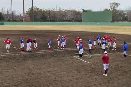 All players are responsible for cleaning the field
