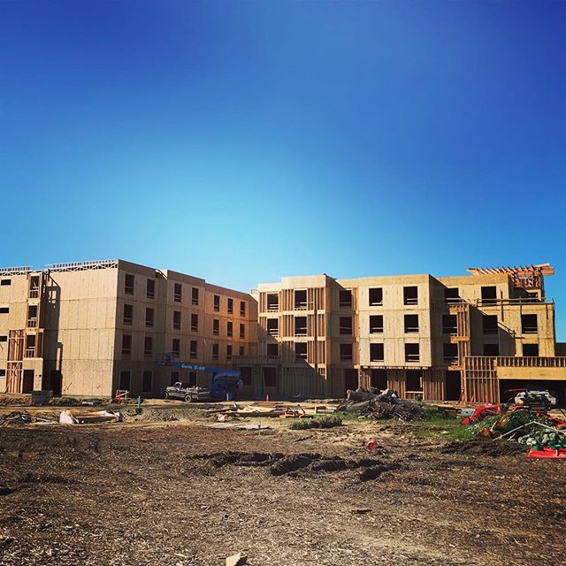 Our Hilton project is coming along despite all of the rain!