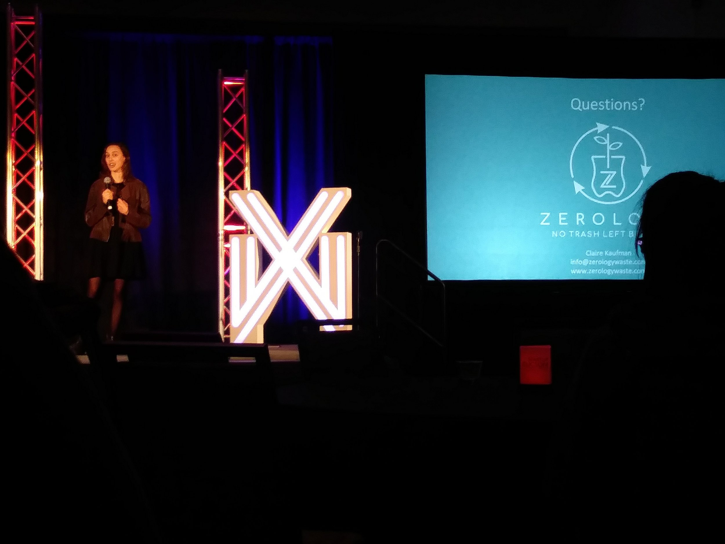 Presenting at the Social Impact Pitch Competition last month.