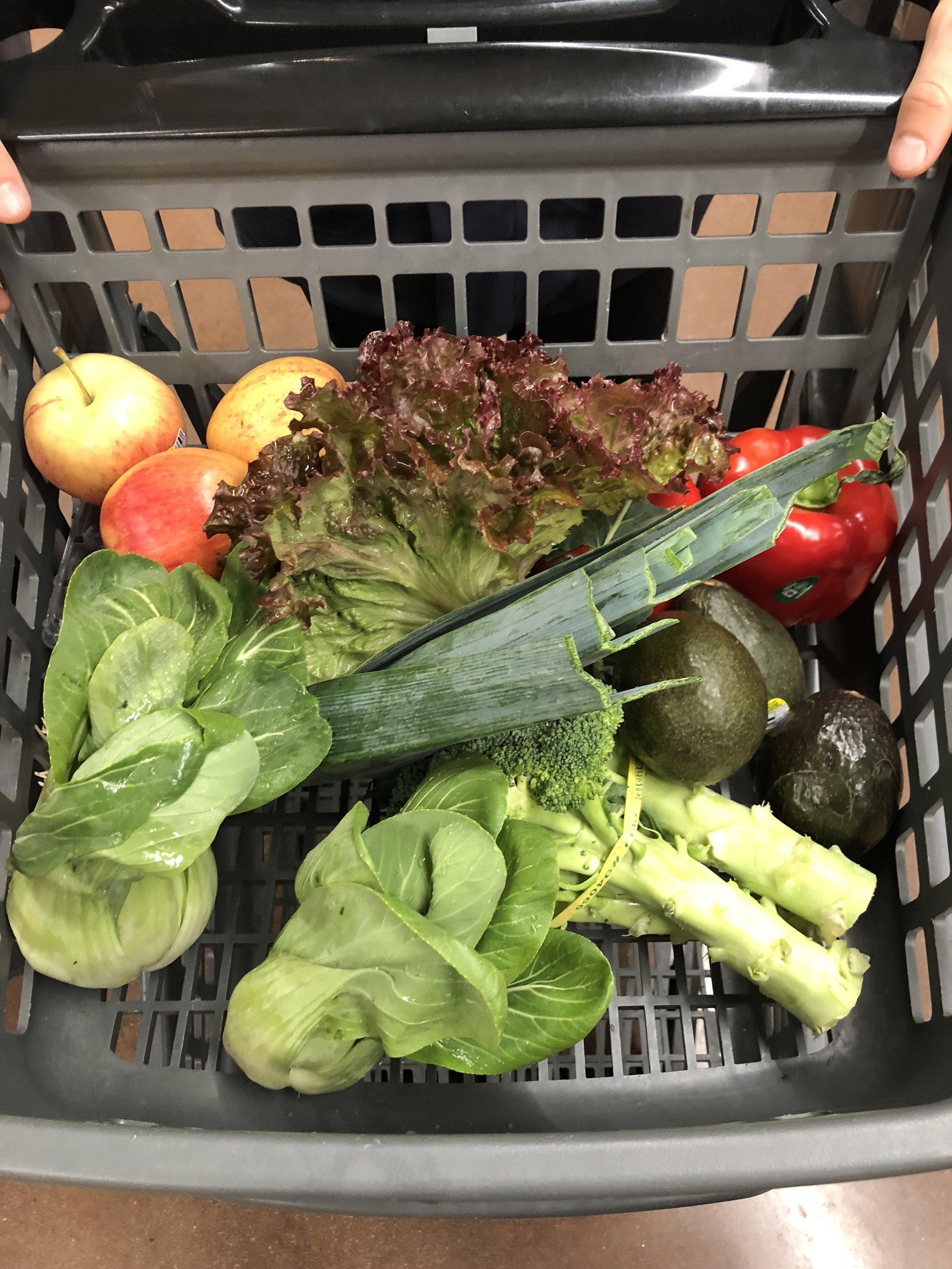 My zero-waste produce shopping cart!