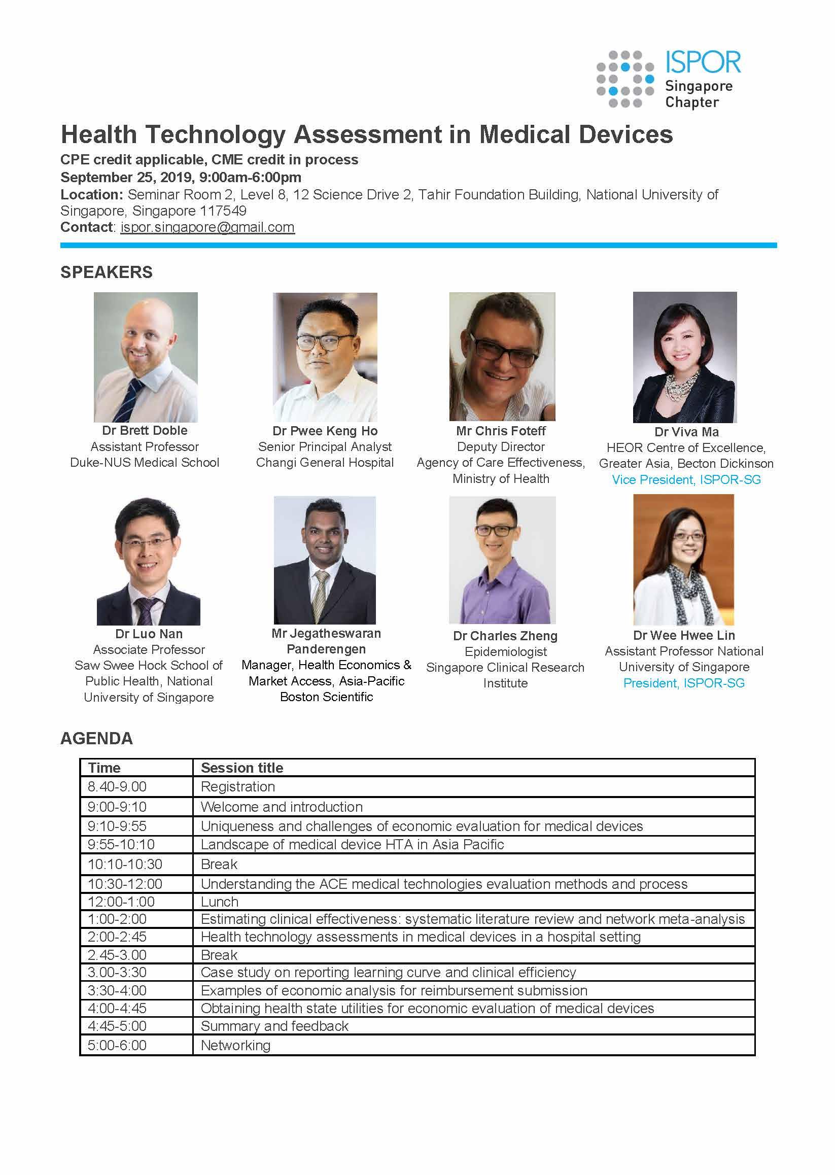 Contact: ispor.singapore@gmail.com