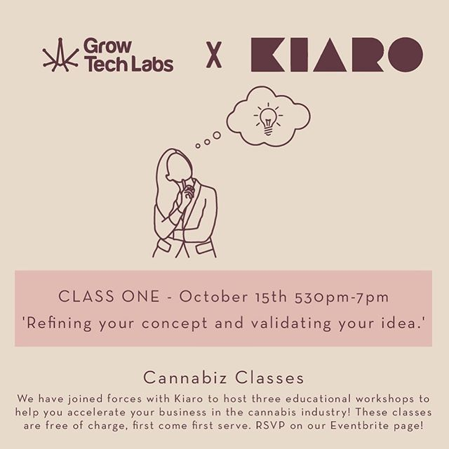Tomorrow is our first workshop with @mykiaro! We will be discussing how to refine your concept and validate your idea! #cannabiseducation