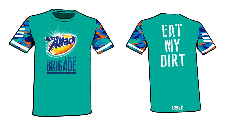 Biozet Attack Brigade shirt design
