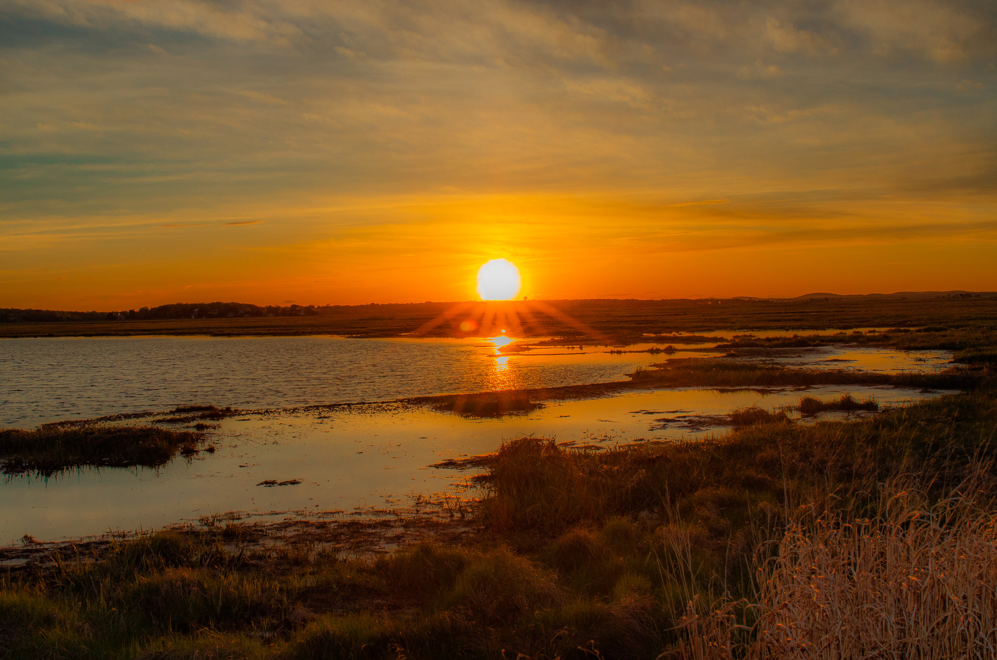 Parker River National Wildlife Refuge sunset in Newburyport, MA photographed by Vision Balm in Charleston, SC.