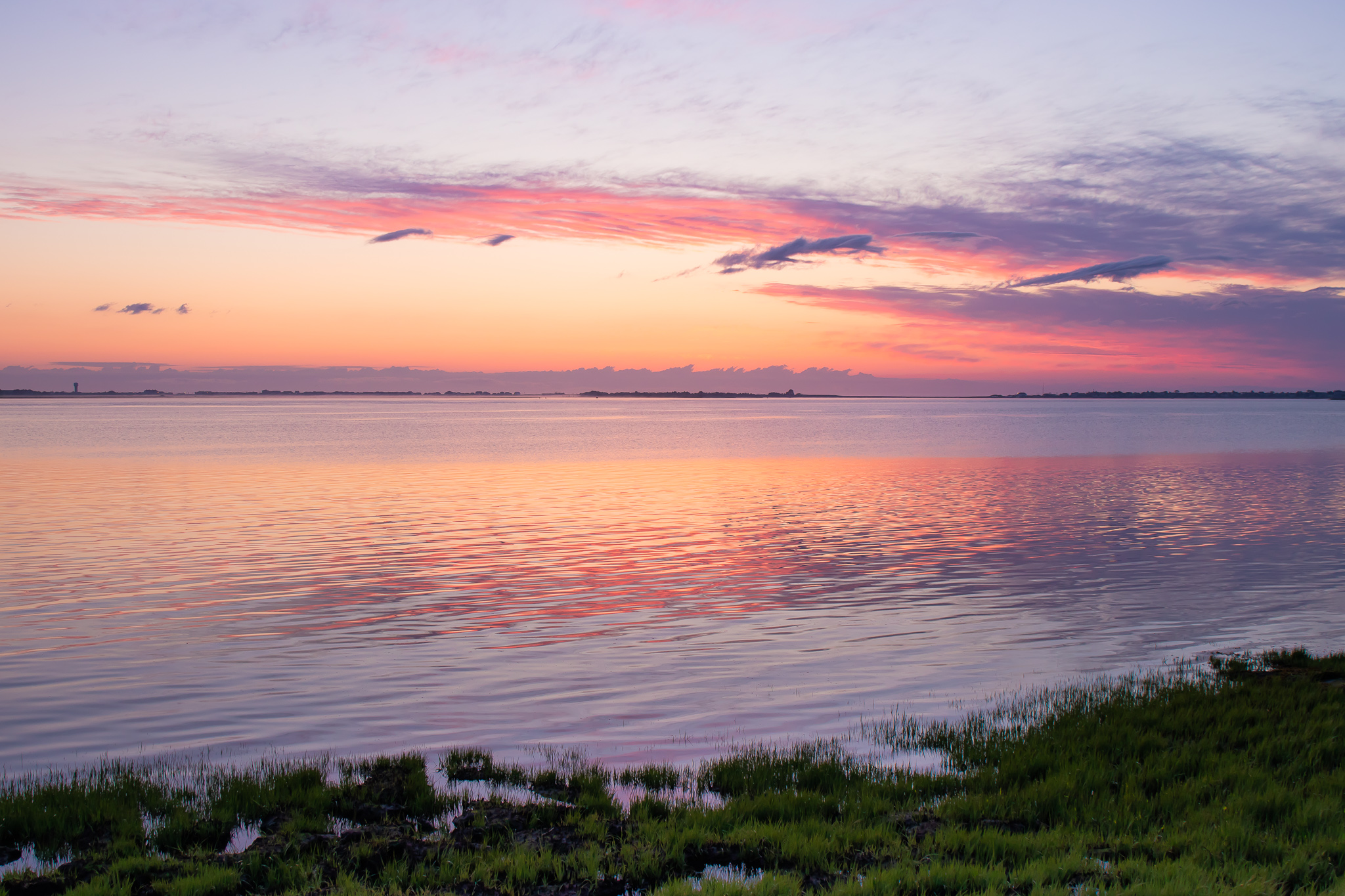 Sunset in Joppa Park in Newburyport, MA photographed by Vision Balm in Charleston, SC.