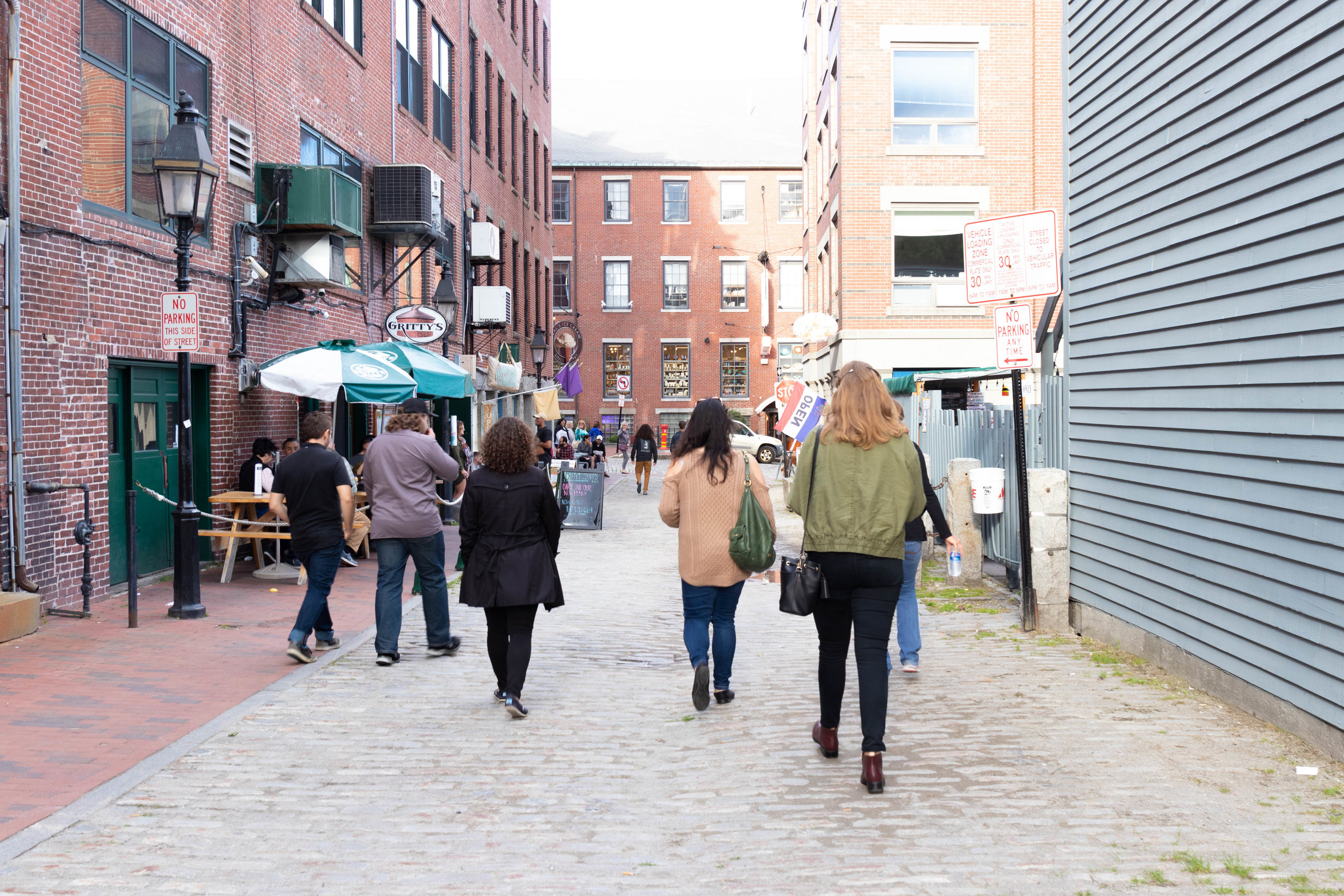 Wharf Street, Portland, Maine, Downtown Portland, Maine photographed by Vision Balm in Charleston, SC.