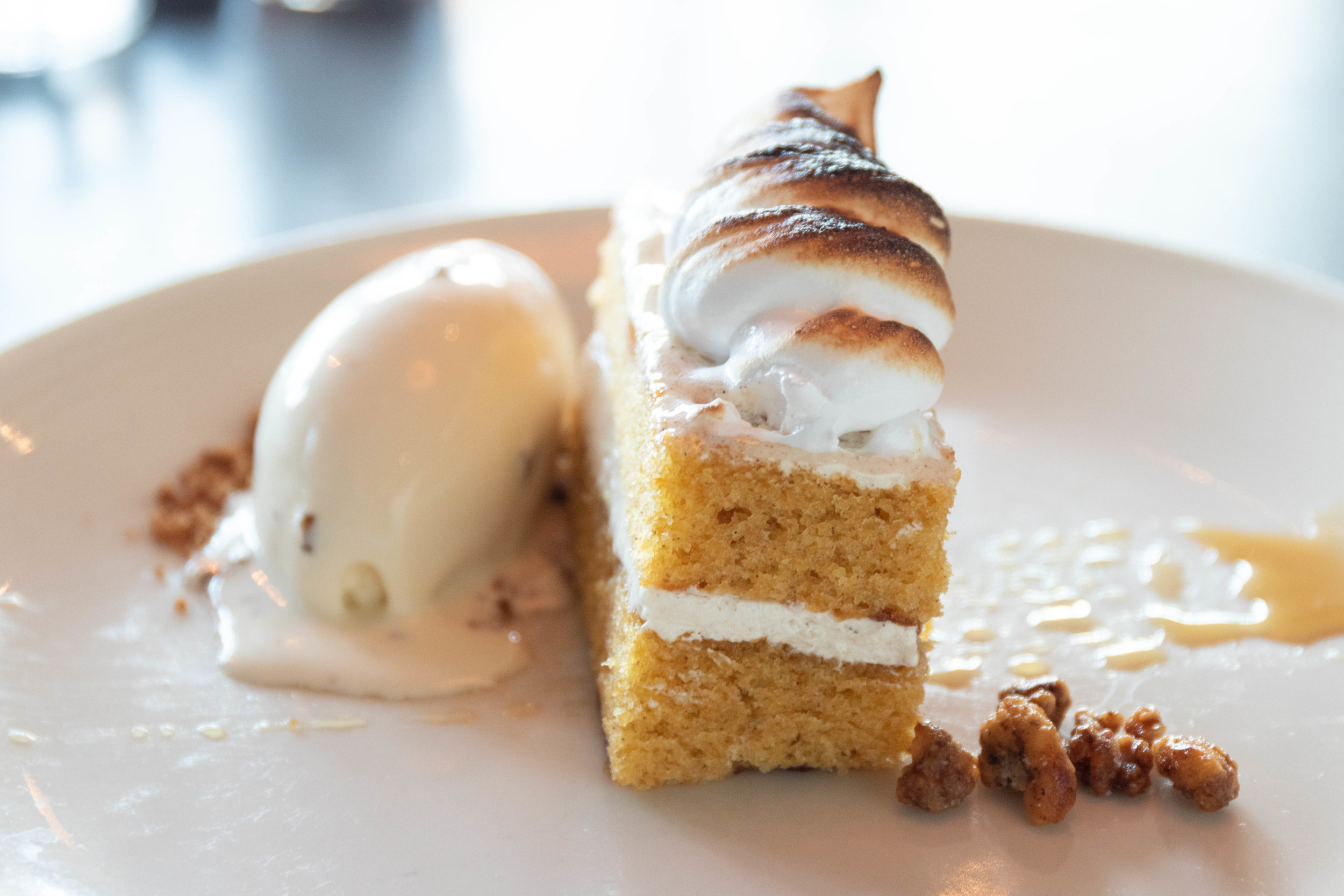 Professional food photo of cake at Scales in Portland, ME by Vision Balm in Charleston, SC.