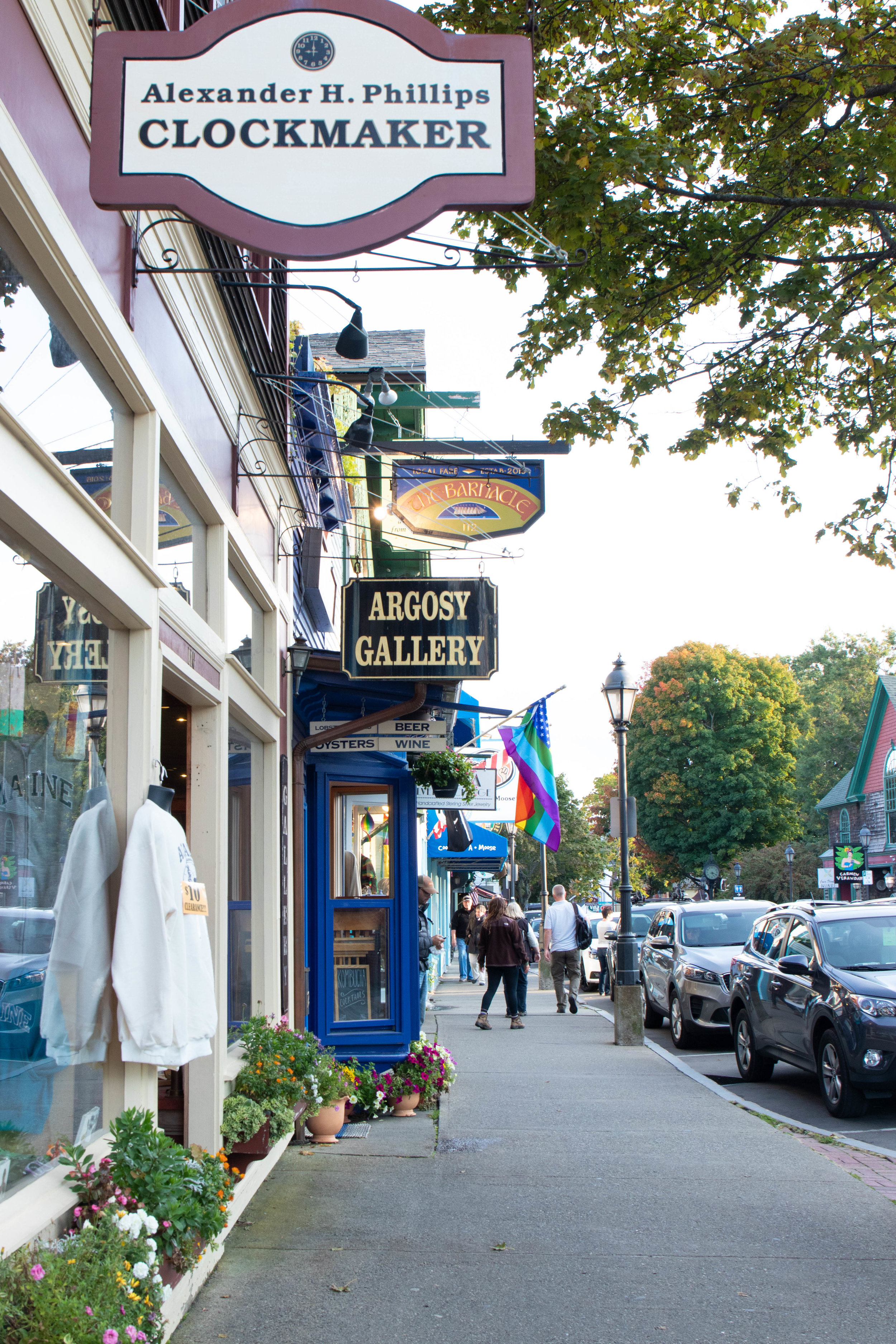 Cityscape photo of Downtown Bar Harbor, ME by Vision Balm in Charleston, SC.