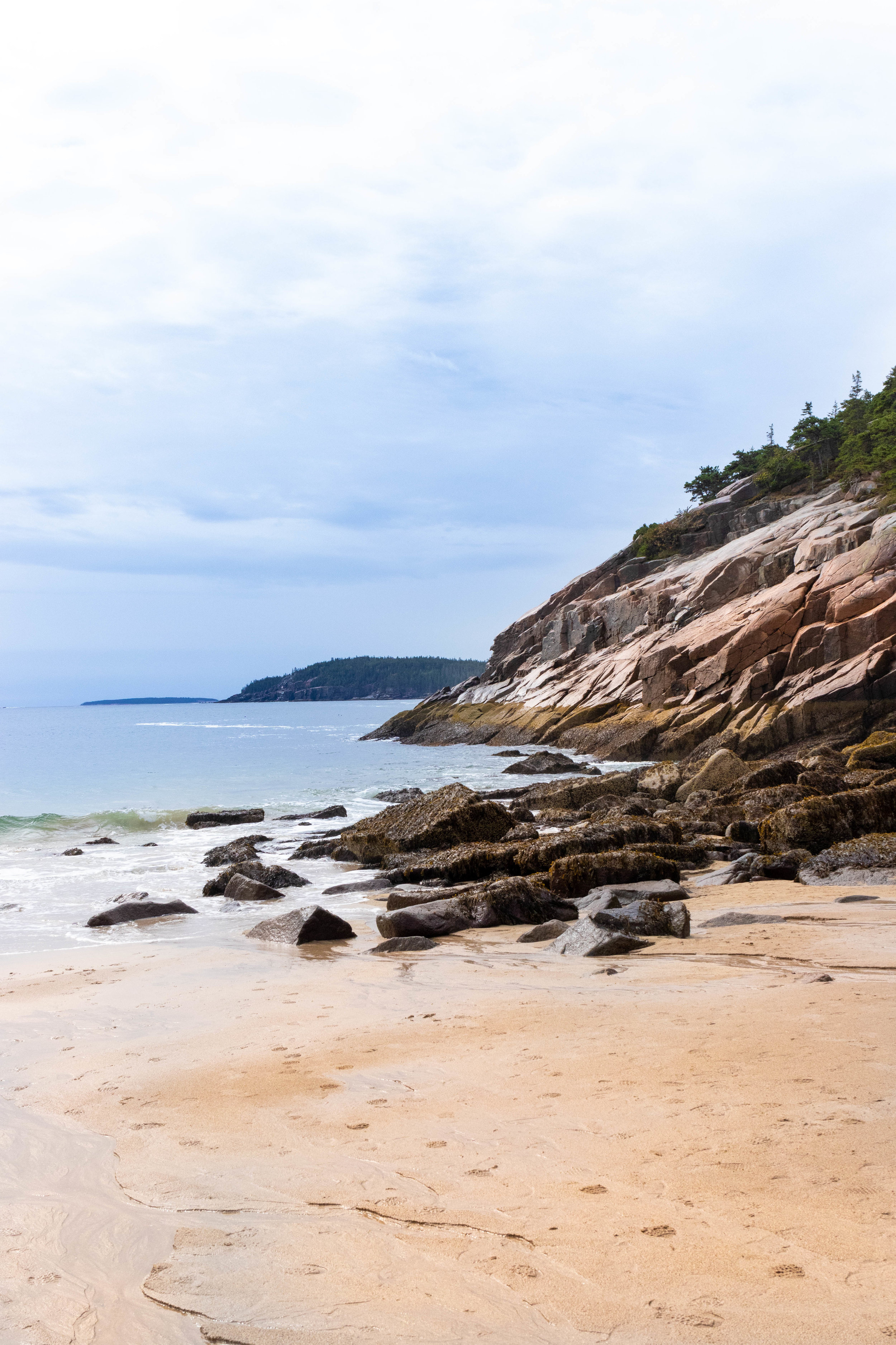 Landscape photo of Sand Beach in Acadia National Park in Maine by Vision Balm in Charleston, SC.