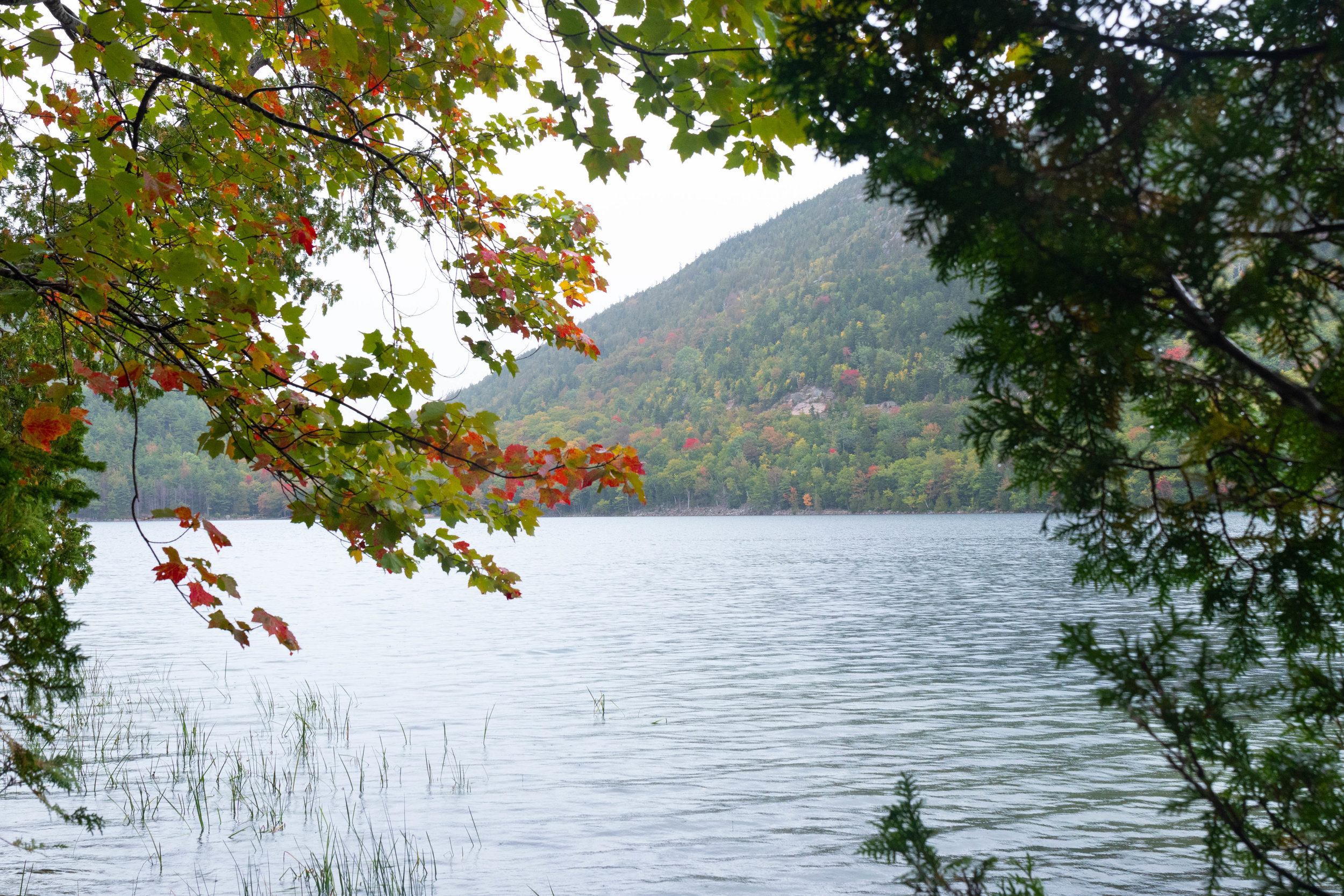 Landscape photo of Jordan Pond in Acadia National Park in Maine by Vision Balm in Charleston, SC.