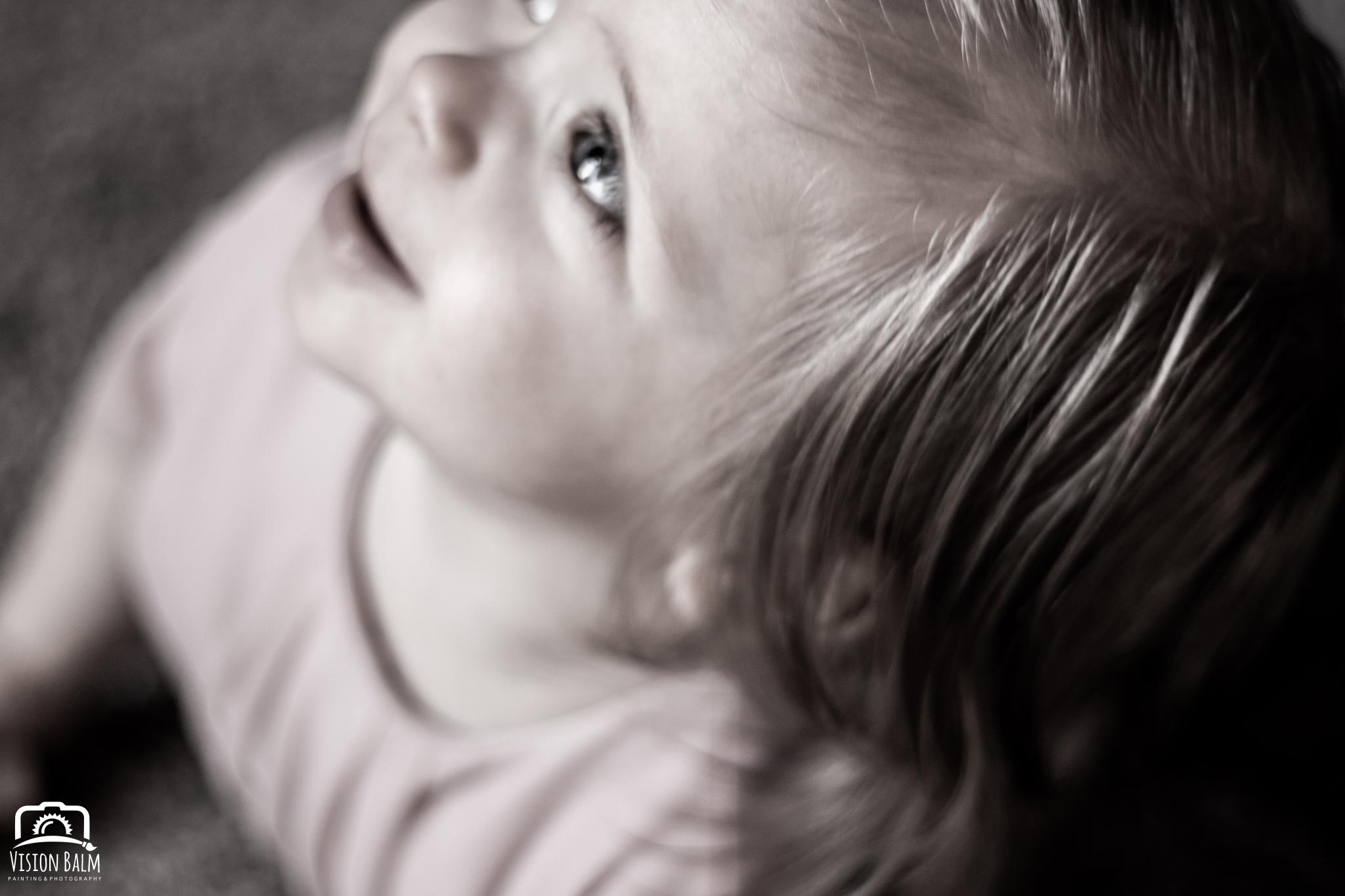 Lifestyle portrait of baby girl in Zuka's Hilltop Barn by Vision Balm in Charleston, SC.