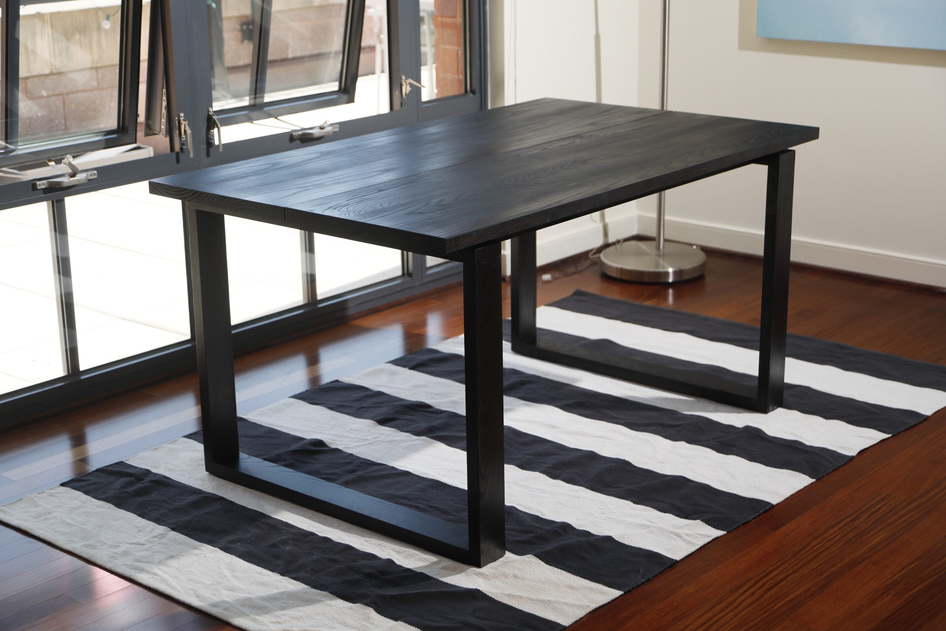 "Black Ash Dining Table | Ash | 36"" x 60"" x 30"" Photo by Michael Shaffer"