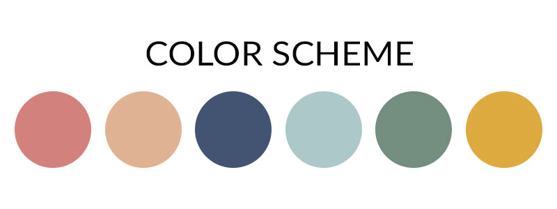 color scheme for girl nursery