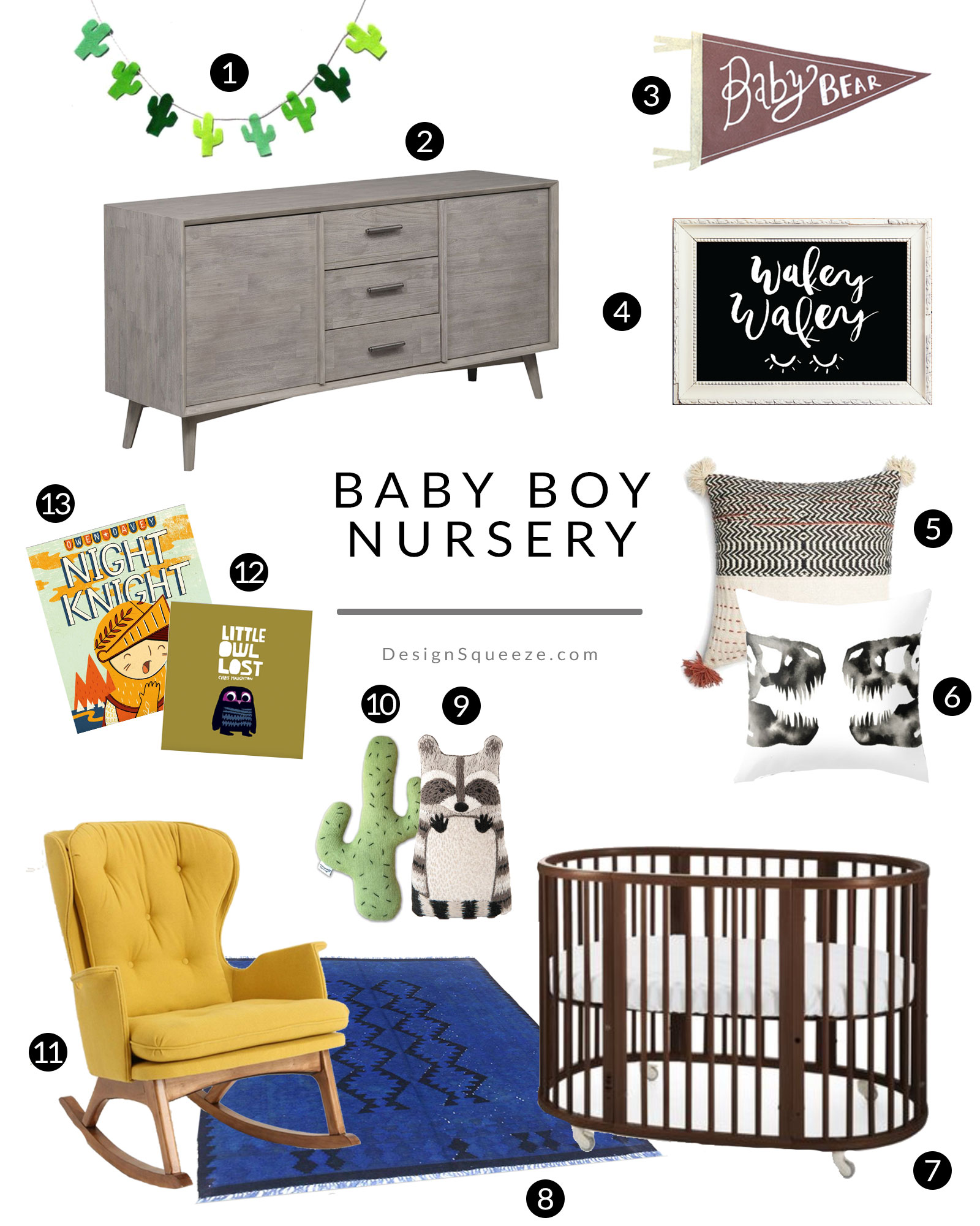 Baby Boy Nursery Ideas