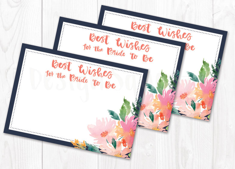 Advice Cards for Bridal Shower