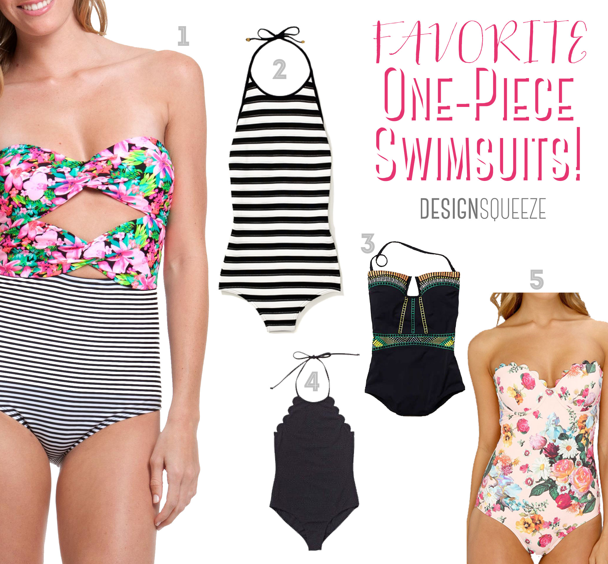Favorite Summer One-pieces