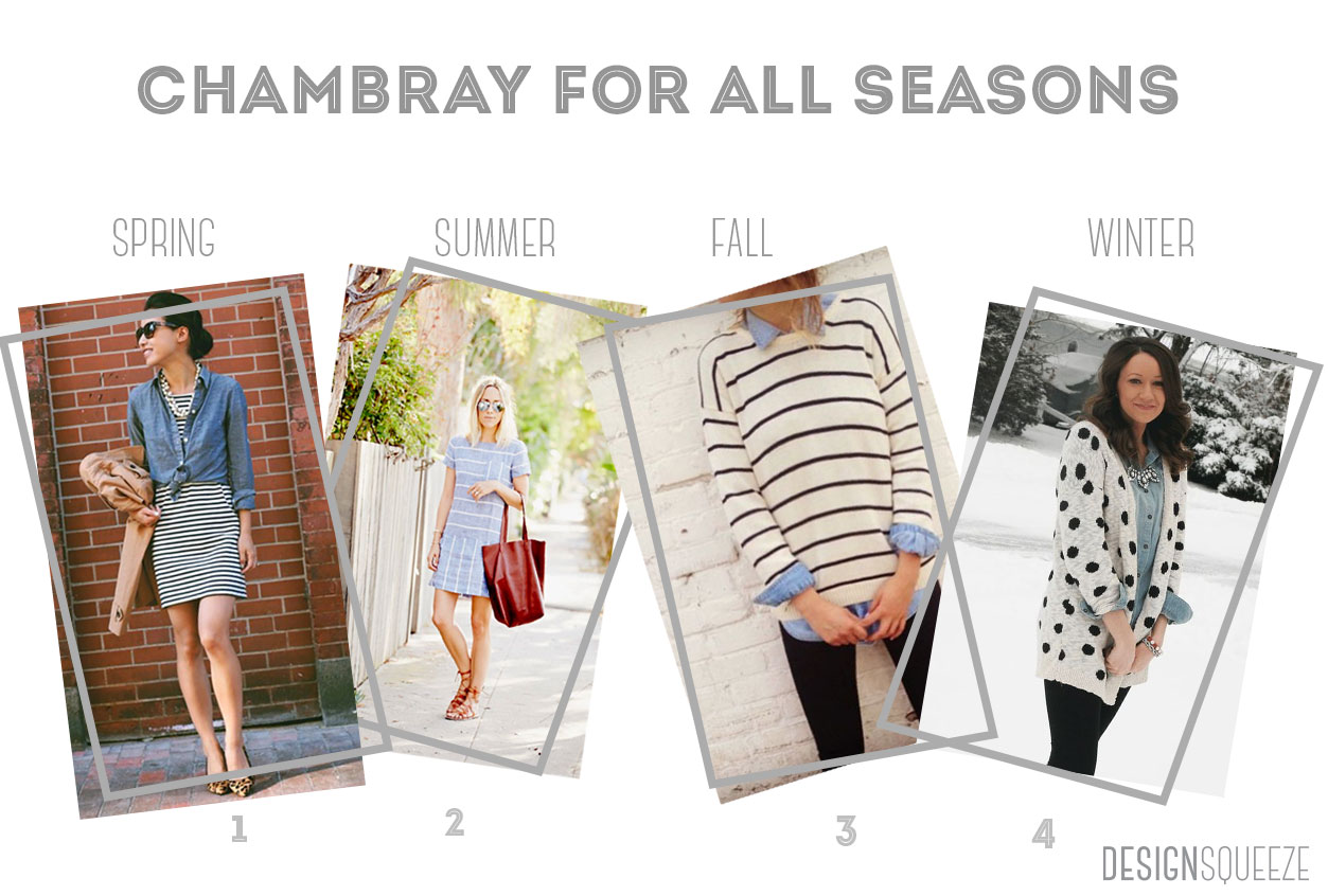 How to wear chambray for all seasons