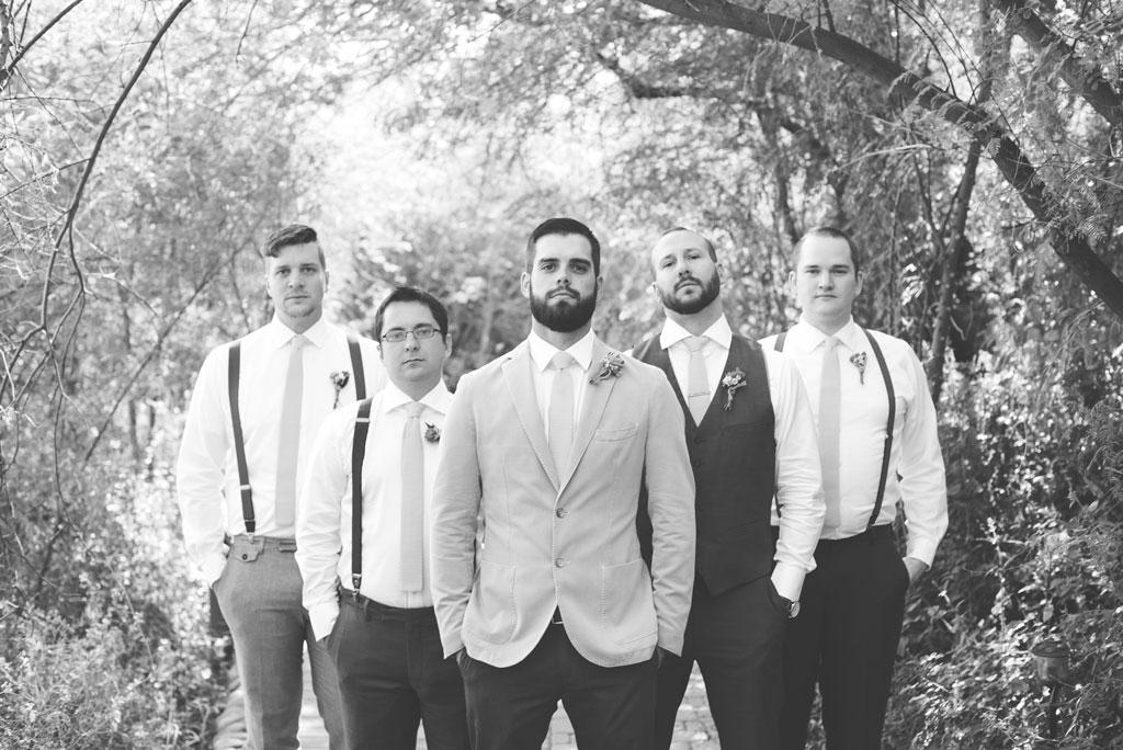 groomsmen in pops of yellow