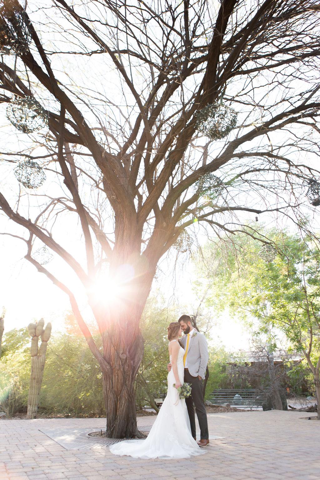 wedding at the phoenix zoo has beautiful scenery