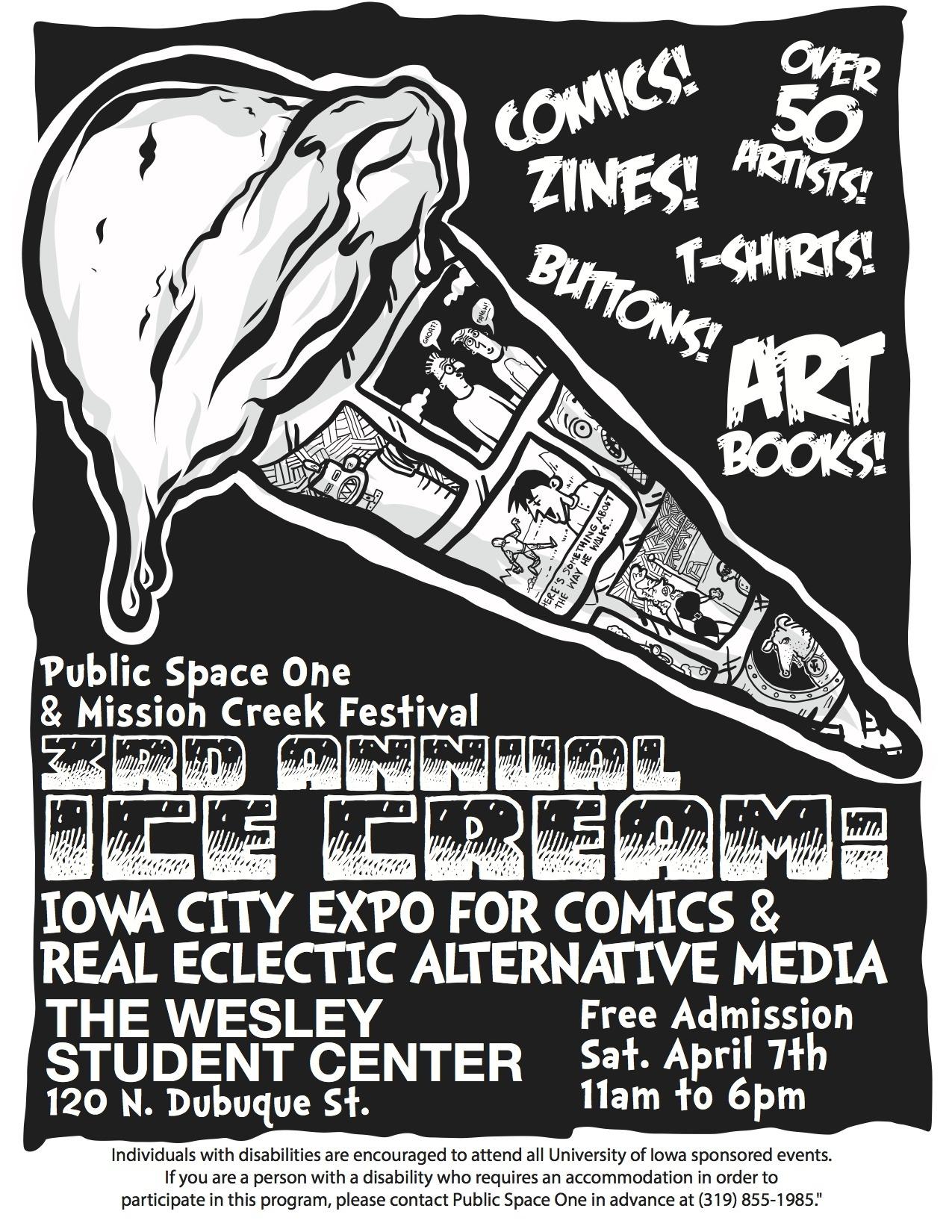 icecreamcomicsfest :   Poster design by  Blair Gauntt