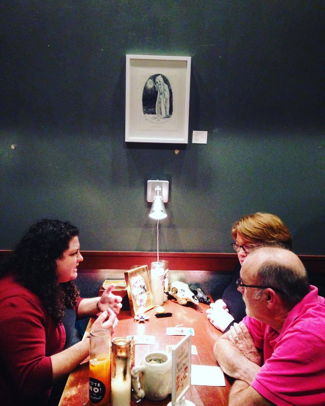 @stregamea reading tarot #artbeacondsm by artbeacondsm  http://ift.tt/1oXXF9e