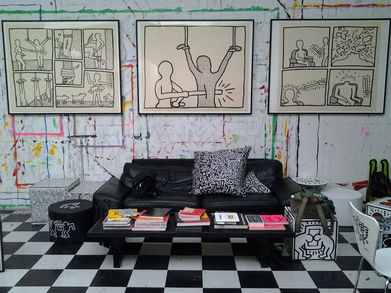 ragernoir :     I visited Haring's studio last week and I loved it.  Got a cute Haring jumper and all, it was cute