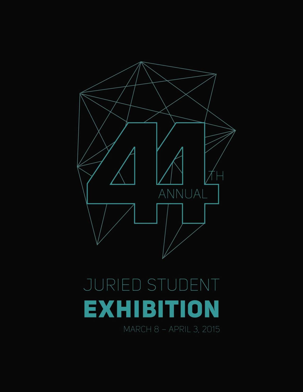 Join us for the opening reception of the 44th Annual Juried Student Exhibition on Sunday, March 8 from 1-3PM. Awards will be announced at 2PM by President and Mrs. Maxwell and Dean Joe Lenz!