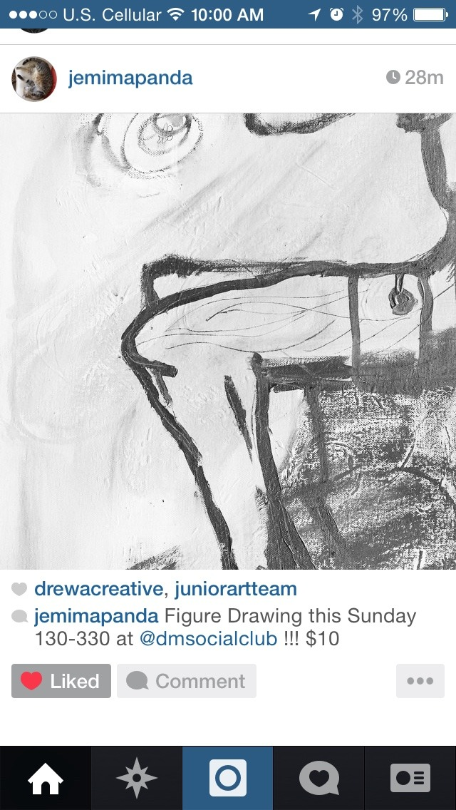 Figure Drawing this Sunday 130-330 at @dmsocialclub