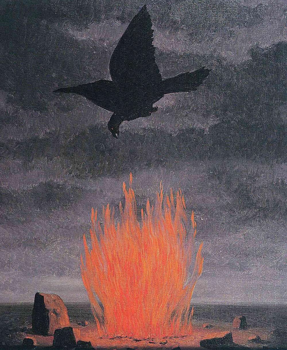 likeafieldmouse :      René  Magritte -  The Fanatics  (1955)