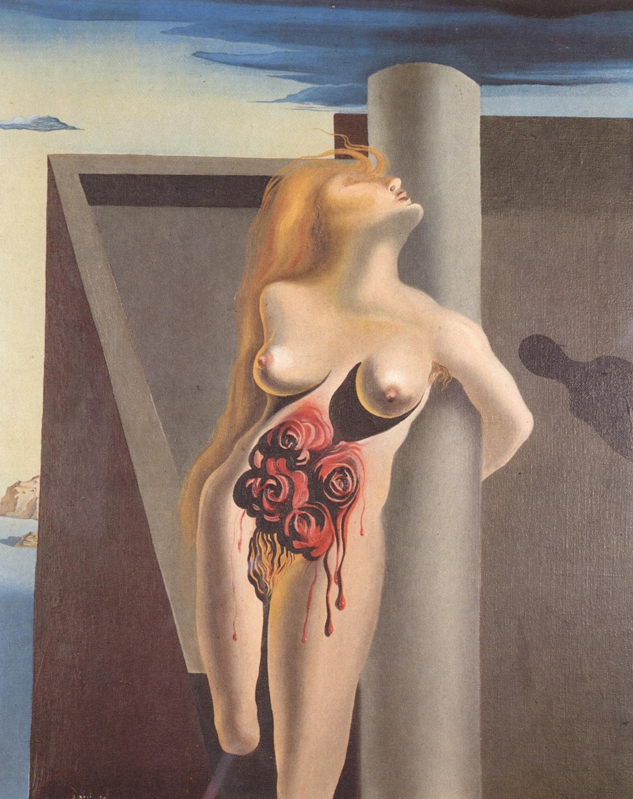 """pixography :     Salvador Dali ~ """" The Bleeding Roses """", 1930"""