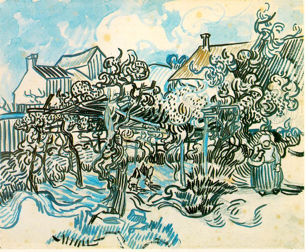 chloefrancillon :      Old Vineyard with Peasant Woman  by Vincent van Gogh (1890)