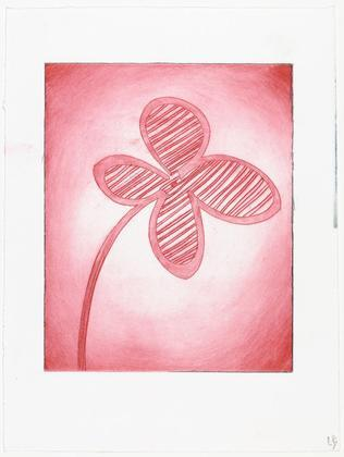 momateens :      Louise Bourgeois (American, born France. 1911–2010) Shamrock, 2002.Engraving and drypoint, with hand additions