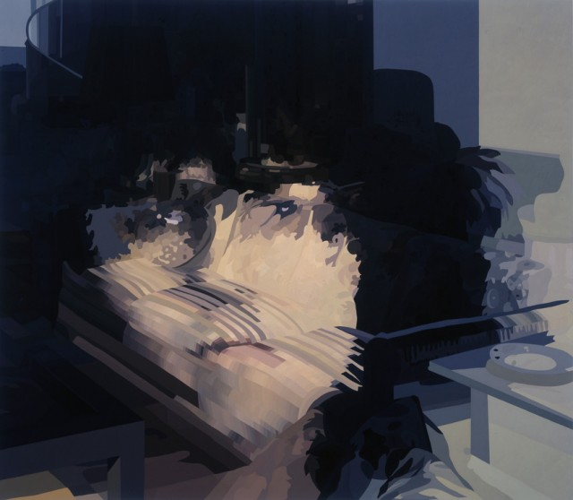 "MTMB (2004) oil paint on canvas 70 x 80"" ( source )"