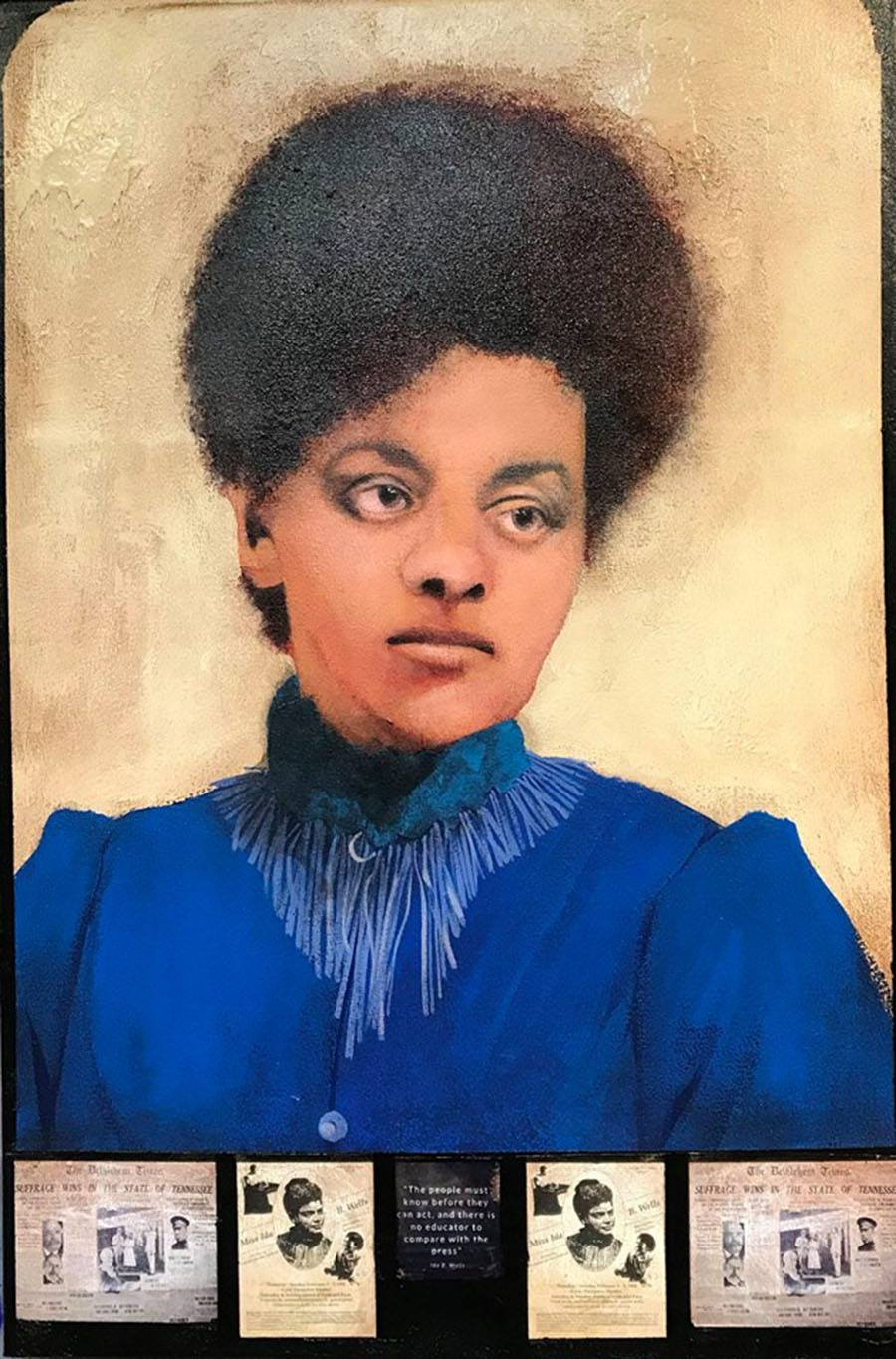 A portrait from the Battle for the Ballot exhibition at Artisan Studio 218, which focuses on Mary Kline Misol's battle to pass the 19th Amendment. The exhibition will open on Friday as a part of Spring Gallery Night.