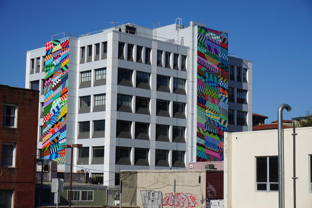 Jason designed the exterior murals on the WeWork building in Berkeley, CA.