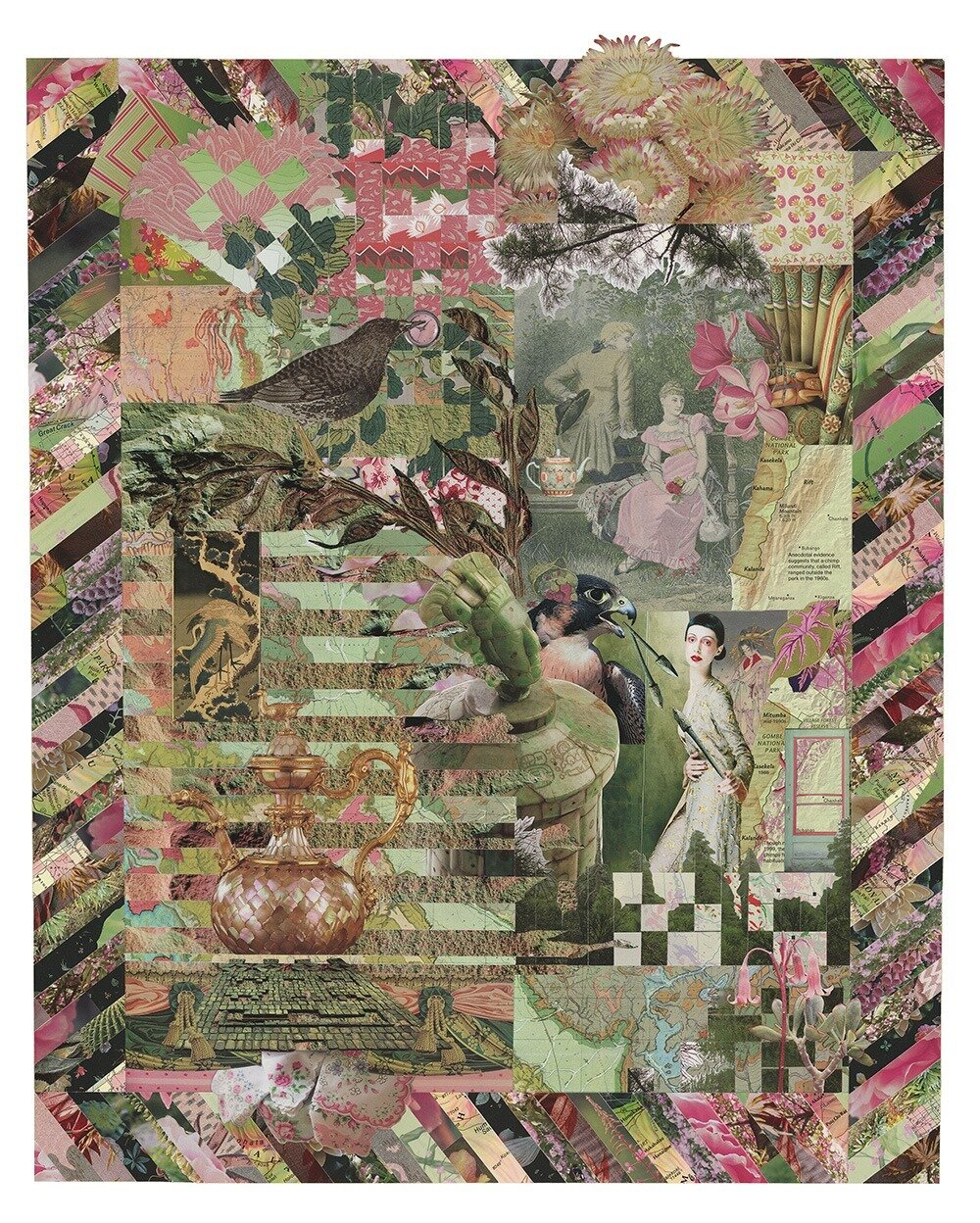 Collage by Deb Anders Bond exhibiting in Box, Book & Board in Ames  ( source )