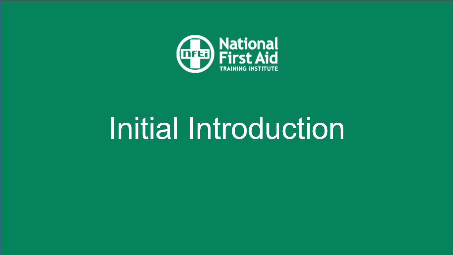National First Aid -
