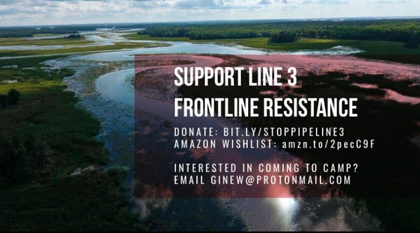 Ginew Collective - Ginew is a grassroots, frontlines effort led by indigenous women to protect Anishinaabe territory from the destruction of Enbridge's Line 3 oil pipeline. Donate: Bit.ly/stoppipeline3Interested in coming to camp? Email ginew@protonmail.com
