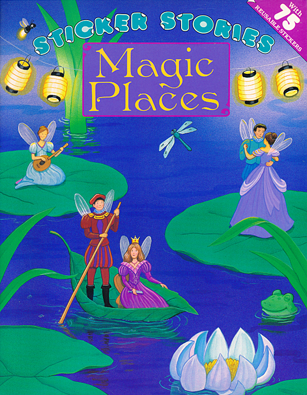 Magic Places sticker book illustrated by Laura Ferraro Close